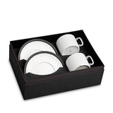 Soie Tressee Black Tea Cup & Saucer, Set of 2 by L'Objet