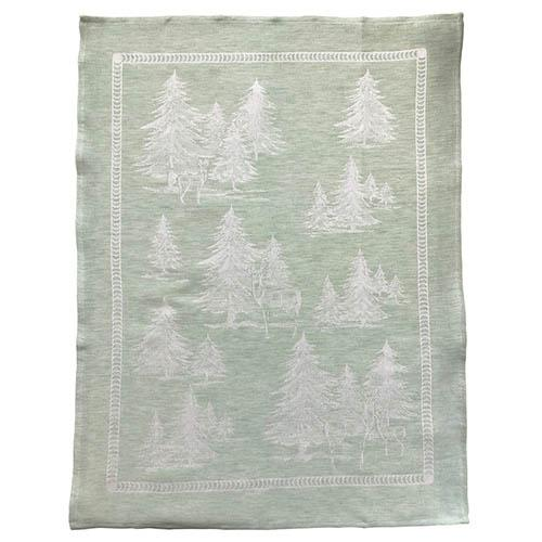 "Forest Green Linen & Cotton Kitchen Towel, 31"" x 23"", Set of 4 by Abbiamo Tutto"