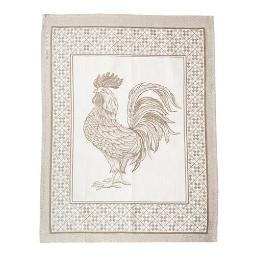 "Natural Rooster Cotton Kitchen Towel, 31"" x 22"", Set of 4 by Abbiamo Tutto"