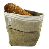 French Monogramme Linen Bread Basket by Thieffry Freres & Cie