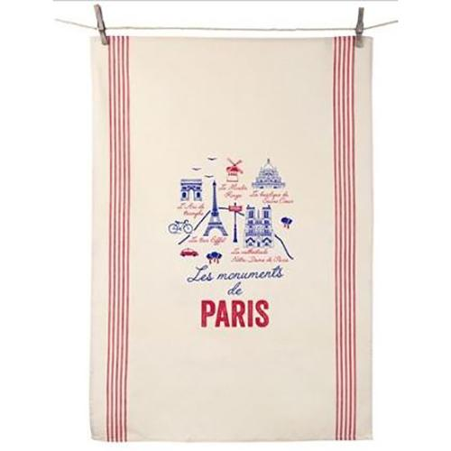Les Monuments de Paris Dish Towel Dish Towel by Tissage de L'Ouest