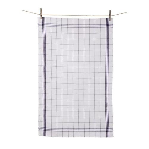 Traditional Window Pane Plaid Dish Towel, set of 2 by Tissage de L'Ouest