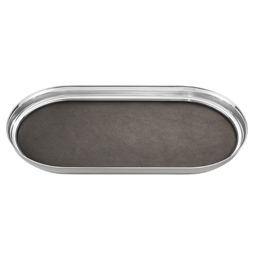 Manhattan Tray with Leather Insert by Georg Jensen