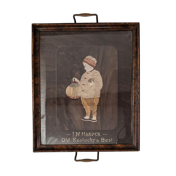 Pre-Prohibition I.W. Harper Bourbon Bar Tray