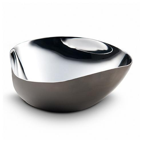 Arroyo Triangle Bowl Black Nickel Plated by Mary Jurek Design