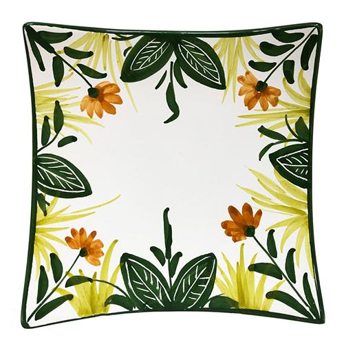 Tropicale Medium Square Plate, 6