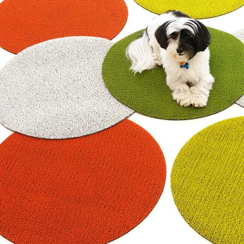 Dot Circular Indoor/Outdoor Shag Rug by Chilewich