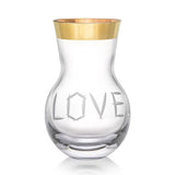 "Love 16.5"" Gold Vase by Rony Plesl for Ruckl"