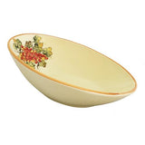 "Vineyard Red Grapes Oval Bowl, 14"" by Abbiamo Tutto"