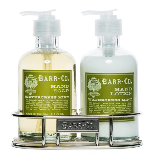 Barr-Co. Soap Shop Watercress Mint Hand & Body Caddy Set