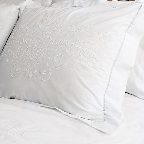 Sweet Dreams Embroidered Shams, set of 2 by Dawson + Hellmann