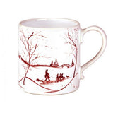 Country Estate Winter Frolic Ruby Mug by Juliska