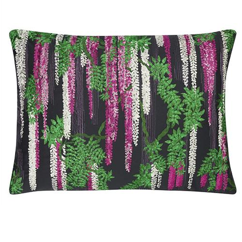 "Wisteria Alba Magenta 24"" x 18"" Rectangular Pillow by Christian Lacroix"