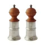 Wood & Pewter Salt and Pepper Grinders by Match Pewter