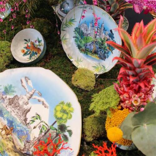 Reveries Dessert Plate by Christian Lacroix for Vista Alegre
