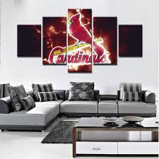 MLB 5 Panel Canvas Print Wall Art