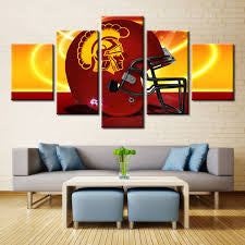 NCAA 5 Panel Canvas Print Wall Art