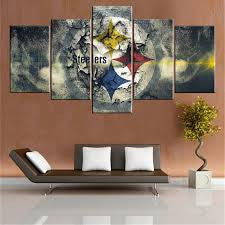 NFL 5 Panel Canvas Print Wall Art