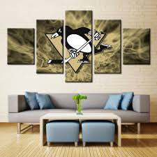 NHL 5 Panel Canvas Print Wall Art