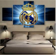 Soccer 5 Panel Canvas Print Wall Art