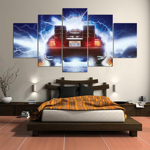 Back to the Future 5 Panel Canvas Wall Art Print