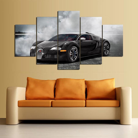 Bugatti Exotic Sport Car 5 Panel Canvas Wall Art Print