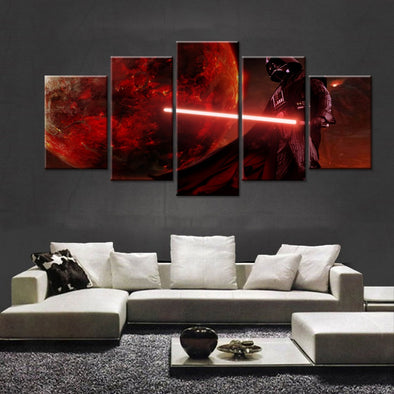 Star Wars Darth Vader 5 Panel Canvas Wall Art Print
