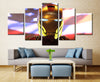 The Avengers Iron Man American Flag 5 Panel Canvas Wall Art Print