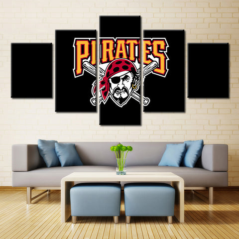Pittsburgh Pirates MLB Sports Team 5 Panel Canvas Home Decor
