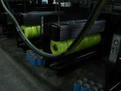 Spooling of Eurow microfiber yarn after extrusion