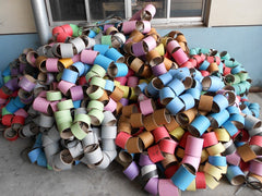 Multiple colored bobbins Eurow microfiber