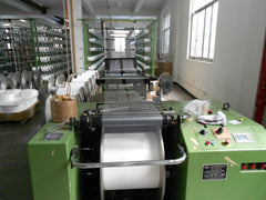 Microfiber yarn spooling at Eurow manufacturing site