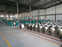 Yarn spooling at Eurow microfiber manufacturing