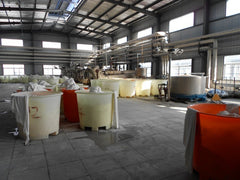 Microfiber dyeing hall at the end of the day