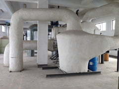 Heat foam insulation in microfiber yarn production plant
