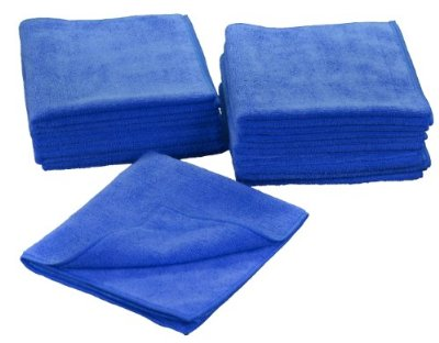 Eurow 16 x 16 in. 300 GSM Microfiber Cleaning Towels – 12-pack