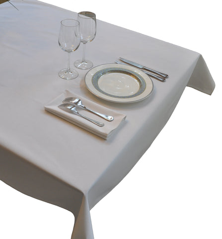 Nouvelle Legende® 52 x 72 in. White Polyester Tablecloth