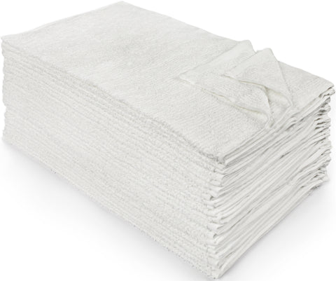Nouvelle Legende® Commercial-Grade 100% Cotton Ribbed Towels – 25-pack