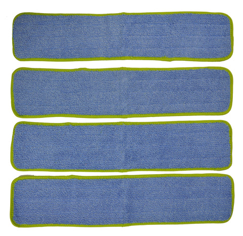 CleanAide® 24-in. Green Commercial Microfiber Wet Mop Pad Refills – 4 Pack