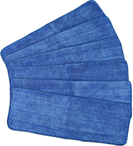CleanAide® All Purpose Mega Microfiber Mop Pad 18 Inches 6 Pack