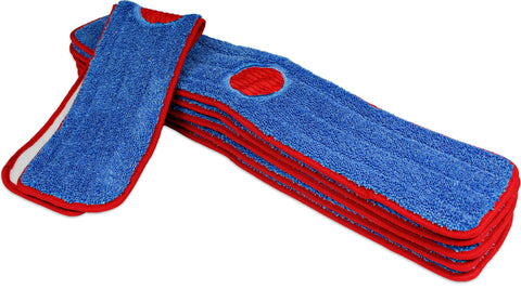 CleanAide® 18-inch Spot Cleaning Twist Yarn Microfiber Mop Pad with Scrubber – 6 Pack