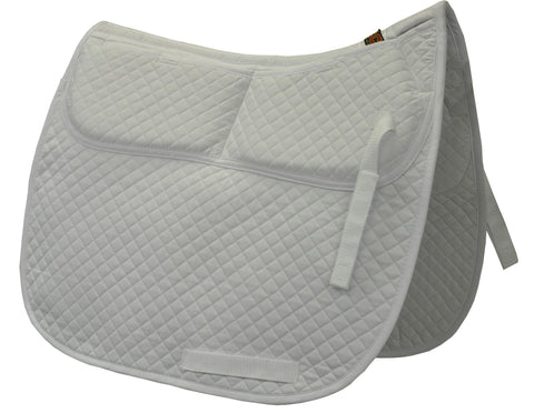 ECP Cotton Correction Dressage Saddle Pad - Memory Foam Pockets