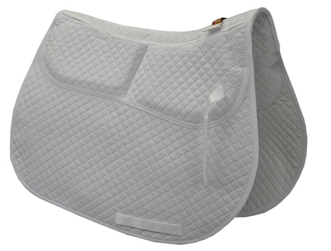 ECP Cotton Correction All Purpose Saddle Pad - Memory Foam Pockets