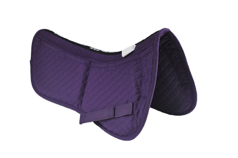 ECP Cotton Correction Half Saddle Pad - Memory Foam Pockets