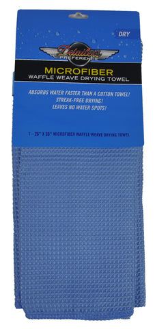 Detailer's Preference® 26 x 36 in. 390 GSM Large Microfiber Waffle Weave Drying Towel