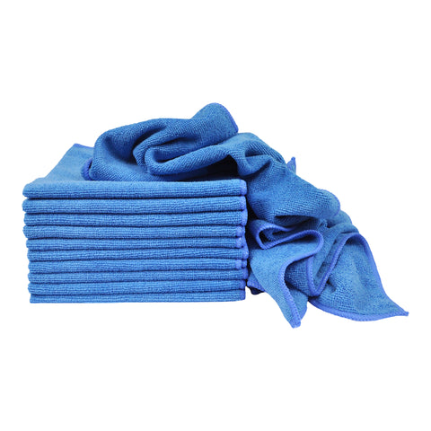 Eurow 16 x 16 in. 240 GSM Utility Terry Weave Microfiber Cleaning Towels – 12-pack