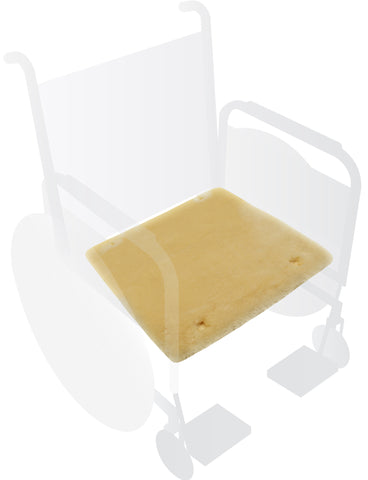 Eurow® Sheepskin Wheelchair Seat Pad - Champagne