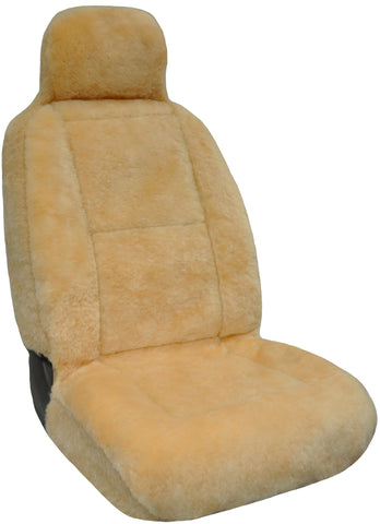 Eurow Sheepskin Seat Cover New XL Design Premium Pelt - Champagne