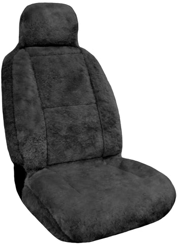 Eurow Sheepskin Seat Cover New XL Design Premium Pelt - Gray