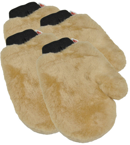 Eurow Sheepskin Wash and Polish Painters Mitt 4-Pack